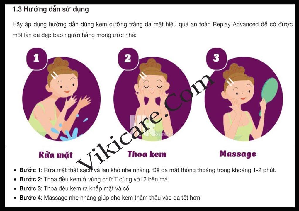 cách sử dụng của kem dưỡng da mặt - kem trắng da mặt 2
