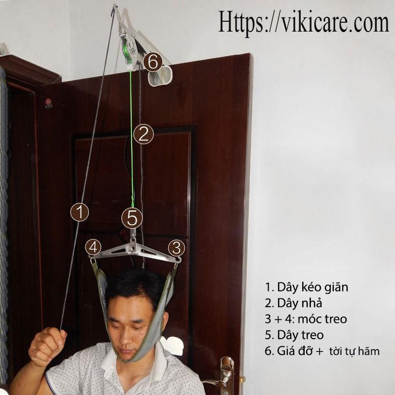 thiết bị kéo giãn đốt sống cổ - kéo cổ vật lý trị liệu 2