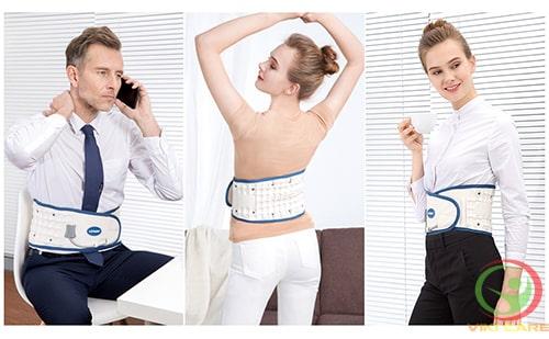 đai lưng kéo giãn cột sống - đai hơi kéo giãn cột sống lưng leamai 2