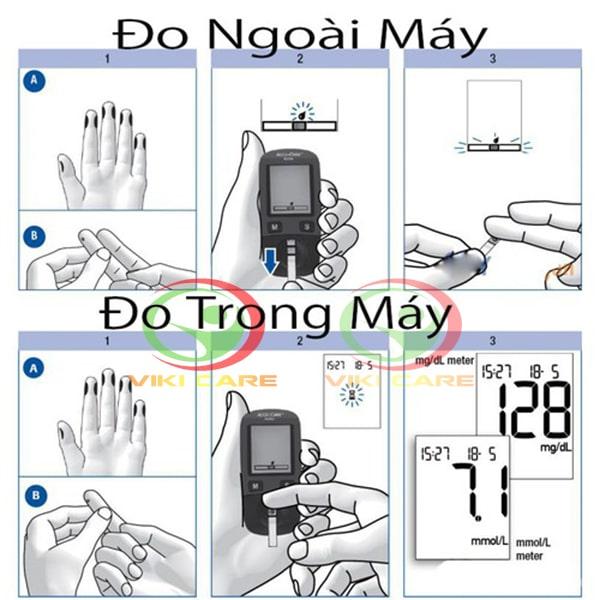 máy đo đường huyết - máy đo tiểu đường Accu Chek Performa 5