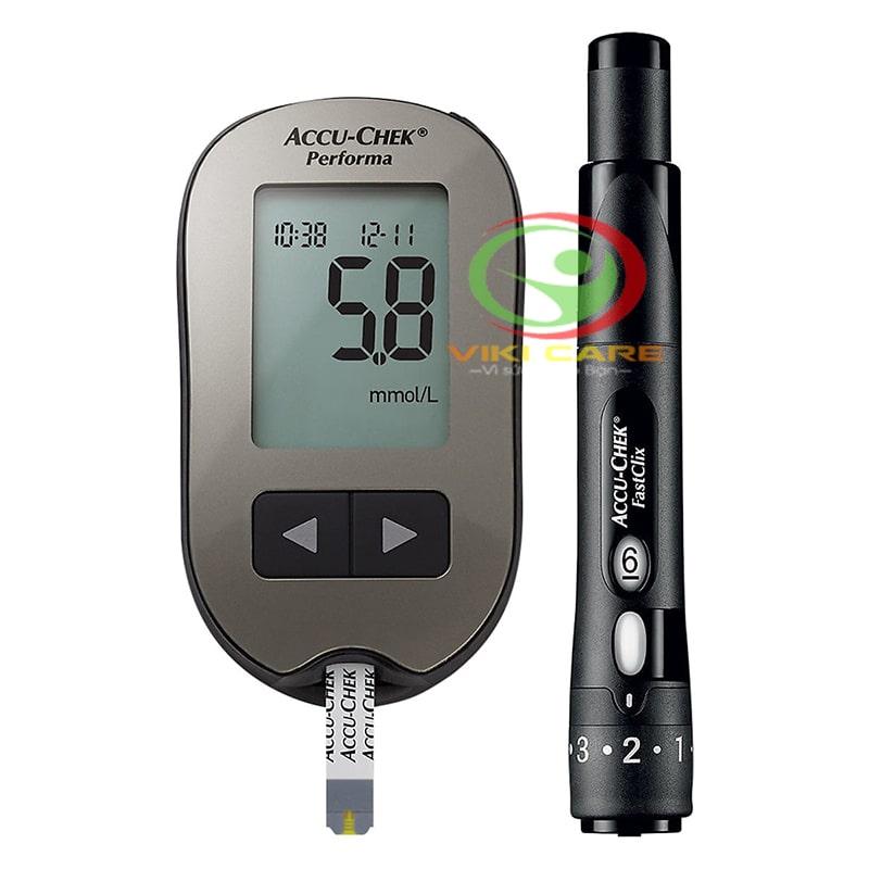 máy đo đường huyết - máy đo tiểu đường Accu Chek Performa 4