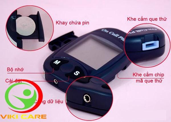 máy đo đường huyết on call plus 12