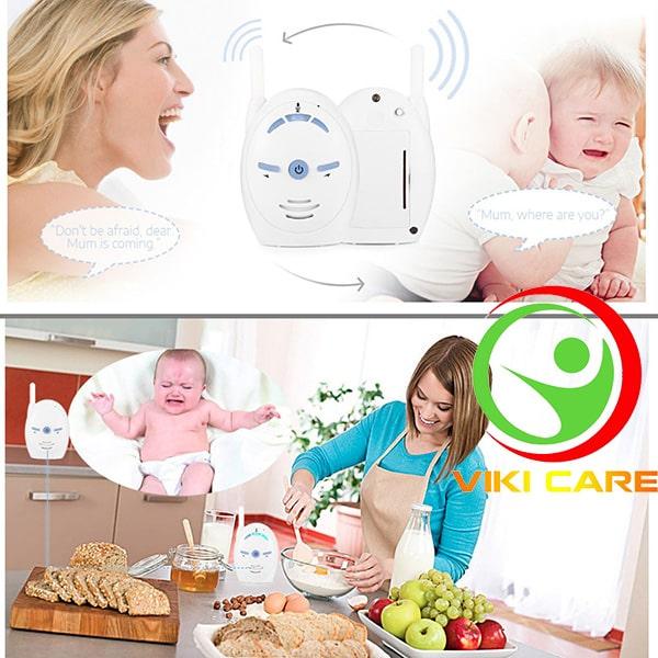 máy báo khóc trẻ em - máy báo khóc baby monitor 2